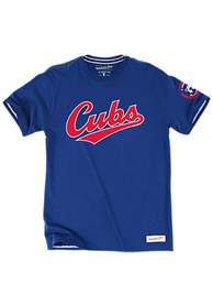 Mitchell and Ness Chicago Cubs Blue Tailored Fashion Tee