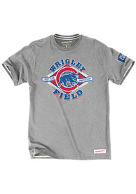 Mitchell and Ness Chicago Cubs Grey Tailored Fashion Tee