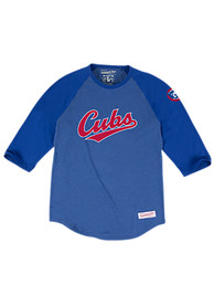 Mitchell and Ness Chicago Cubs Grey Raglan Fashion Tee