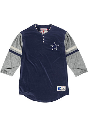 Mitchell and Ness Dallas Cowboys Mens Navy Blue Home Stretch Fashion Tee