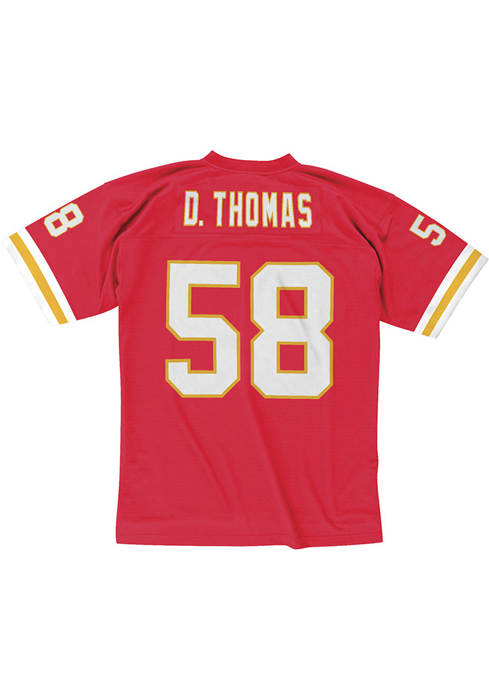 Derrick Thomas Mitchell and Ness Kansas City Chiefs Mens Red Throwback Football Jersey - Image 1