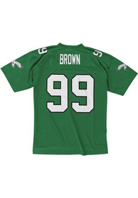 Mitchell and Ness Philadelphia Eagles Jerome Brown 1990 Throwback Jersey - Kelly Green