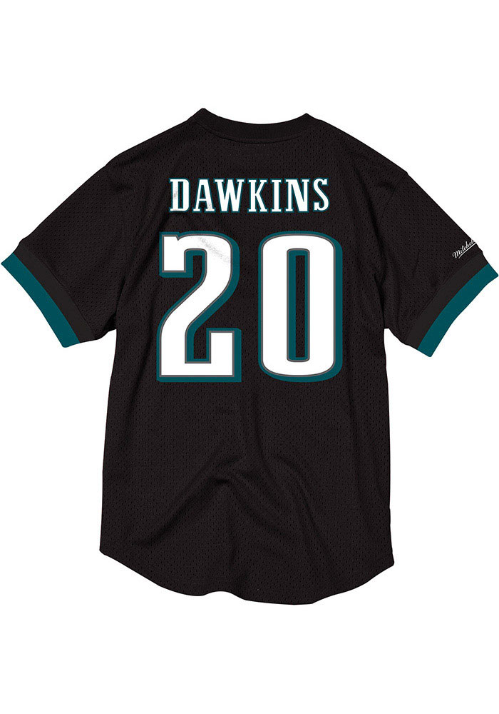 Brian Dawkins Mitchell and Ness Philadelphia Eagles Mens Black Mesh Football Jersey - Image 1