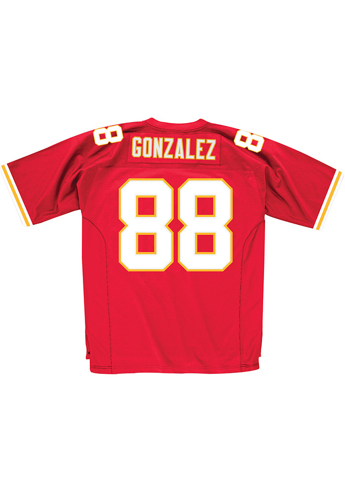 Tony Gonzalez Mitchell and Ness Kansas City Chiefs Mens Red Throwback Football Jersey - Image 1