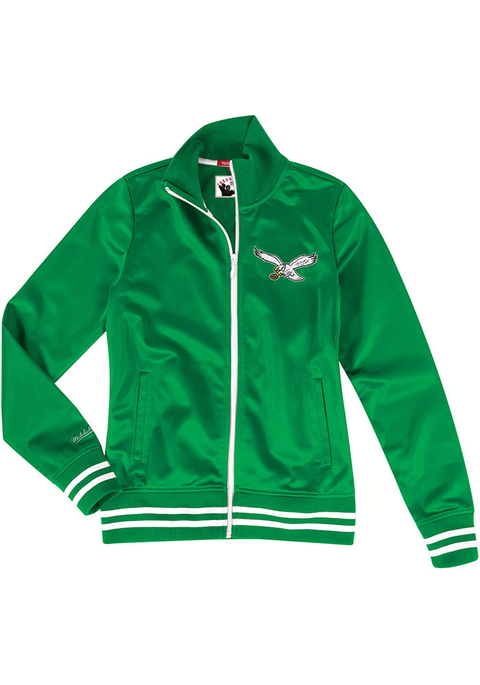 Mitchell and Ness Philadelphia Eagles Womens Kelly Green Traditional Long Sleeve Track Jacket - Image 1