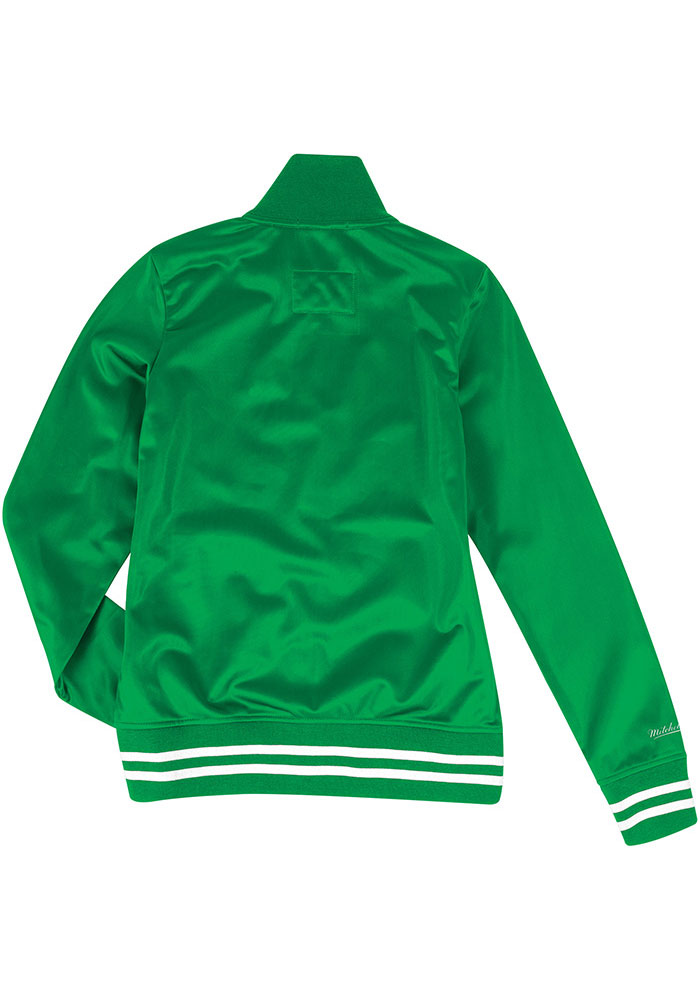 Mitchell and Ness Philadelphia Eagles Womens Kelly Green Traditional Long Sleeve Track Jacket - Image 2