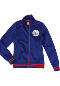 Mitchell and Ness Philadelphia 76ers Womens Traditional Blue Track Jacket