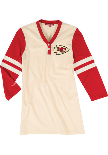 big sale c2583 e7d3a Mitchell and Ness Kansas City Chiefs Womens White Shoot Out LS Tee -  56500350