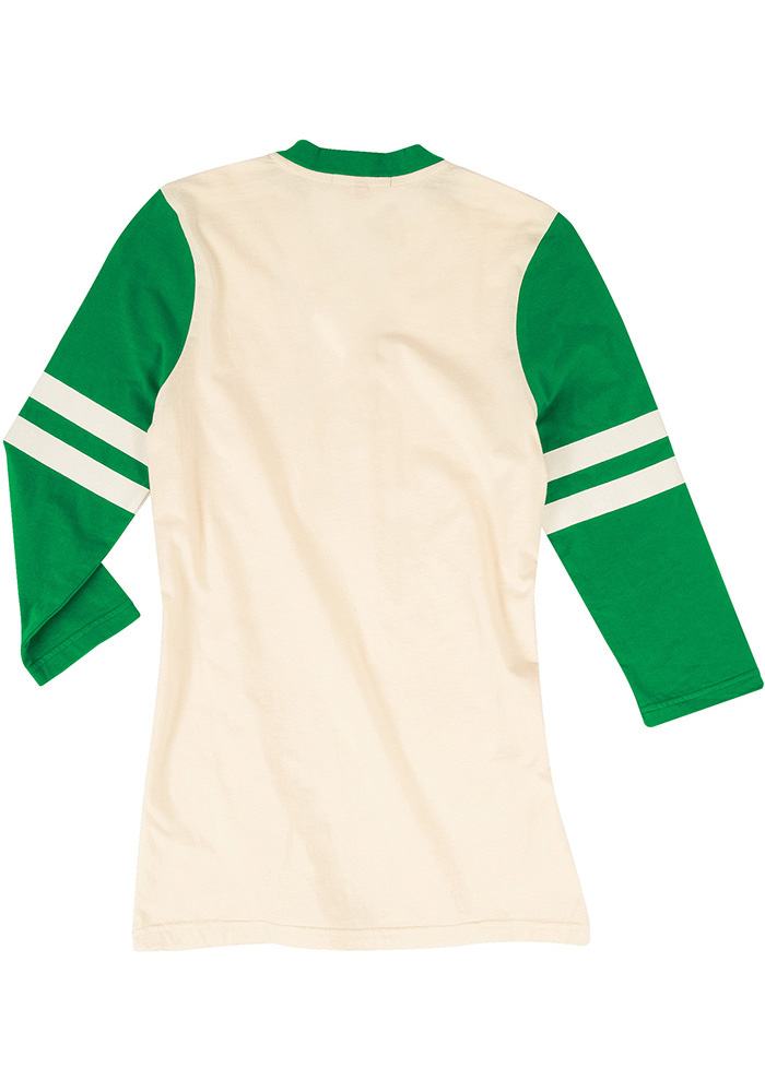Mitchell and Ness Philadelphia Eagles Womens White Shoot Out LS Tee - Image 2
