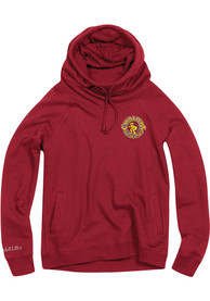 Cleveland Cavaliers Womens Mitchell and Ness Funnel Hooded Sweatshirt - Maroon