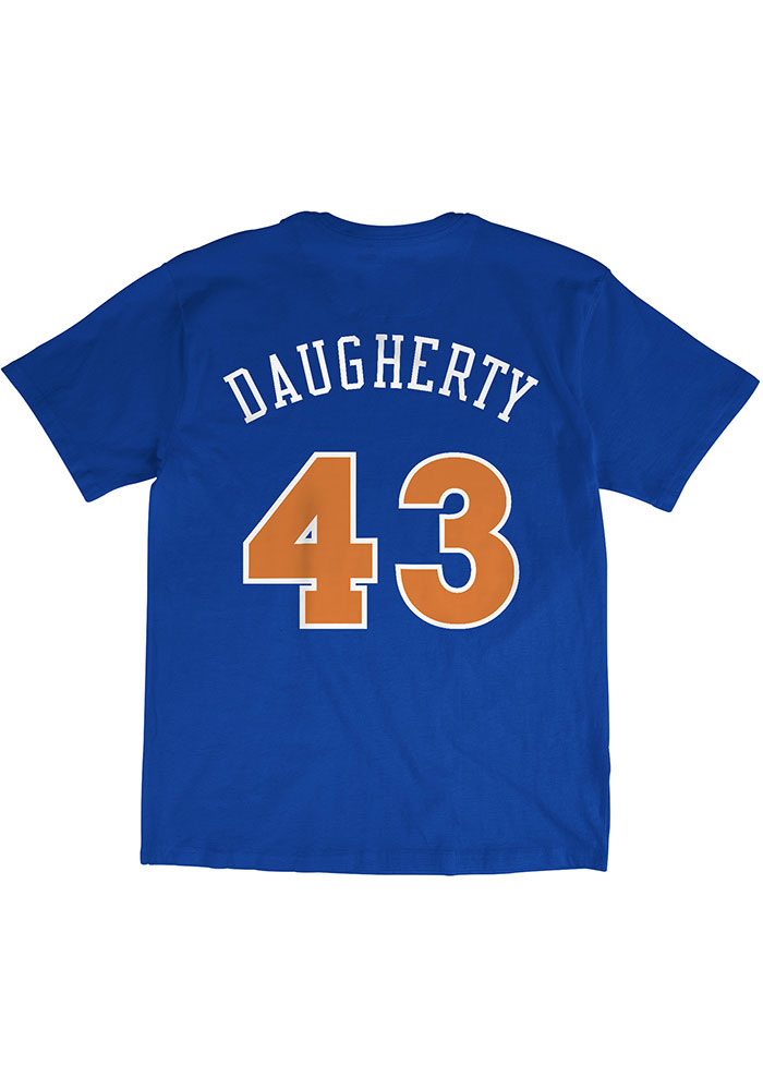 Brad Daugherty Cleveland Cavaliers Blue N & N Short Sleeve Fashion Player T Shirt - Image 1
