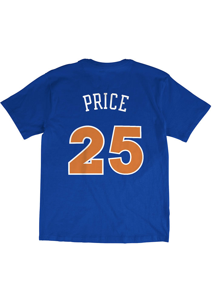 Mark Price Cleveland Cavaliers Blue N & N Short Sleeve Fashion Player T Shirt - Image 1