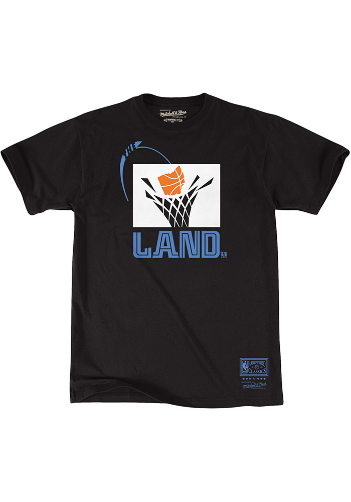 Mitchell and Ness Cleveland Cavaliers Black The Land Short Sleeve Fashion T Shirt - Image 1