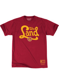 Mitchell and Ness Cleveland Cavaliers Red Our Land Fashion Tee