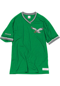 Philadelphia Eagles Mitchell and Ness Overtime Win Fashion T Shirt - Kelly Green