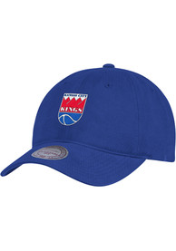 Kansas City Kings Mitchell and Ness Slouch Adjustable Hat - Blue