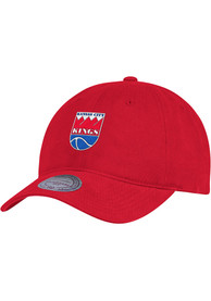 Kansas City Kings Mitchell and Ness Slouch Adjustable Hat - Red