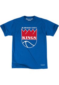 Mitchell and Ness Kansas City Kings Blue Traditional Fashion Tee