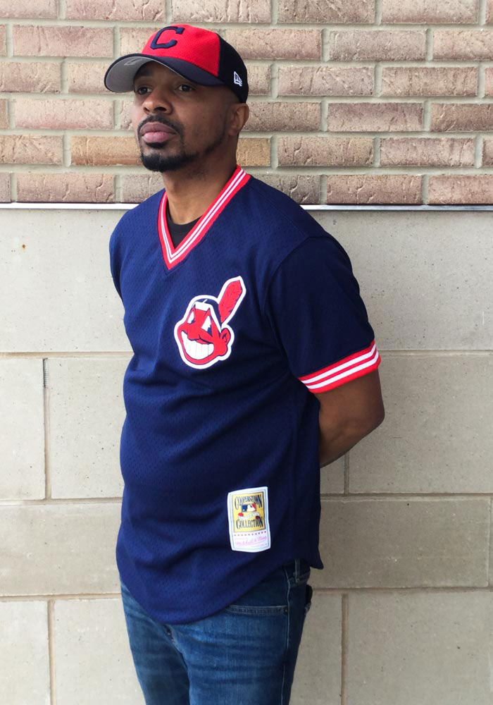 competitive price 8332e b7229 Joe Carter Cleveland Indians Mens Cooperstown Jersey - Navy Blue