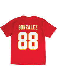 Tony Gonzalez Kansas City Chiefs Mitchell and Ness Name And Number T-Shirt - Red