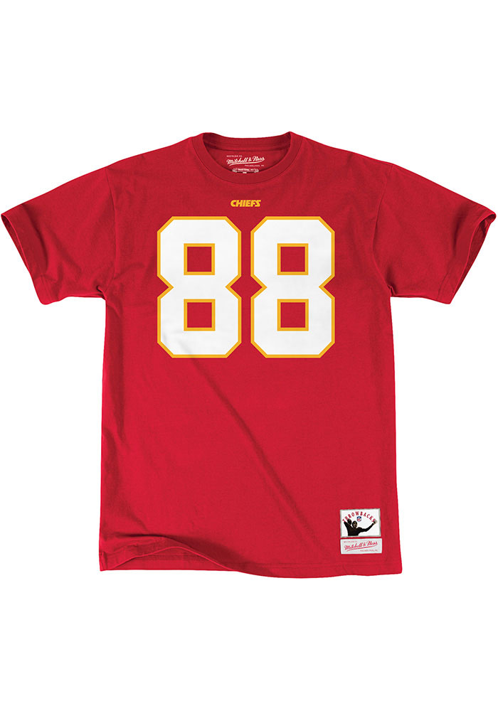 Tony Gonzalez Kansas City Chiefs Red Name And Number Short Sleeve Player T Shirt - Image 2