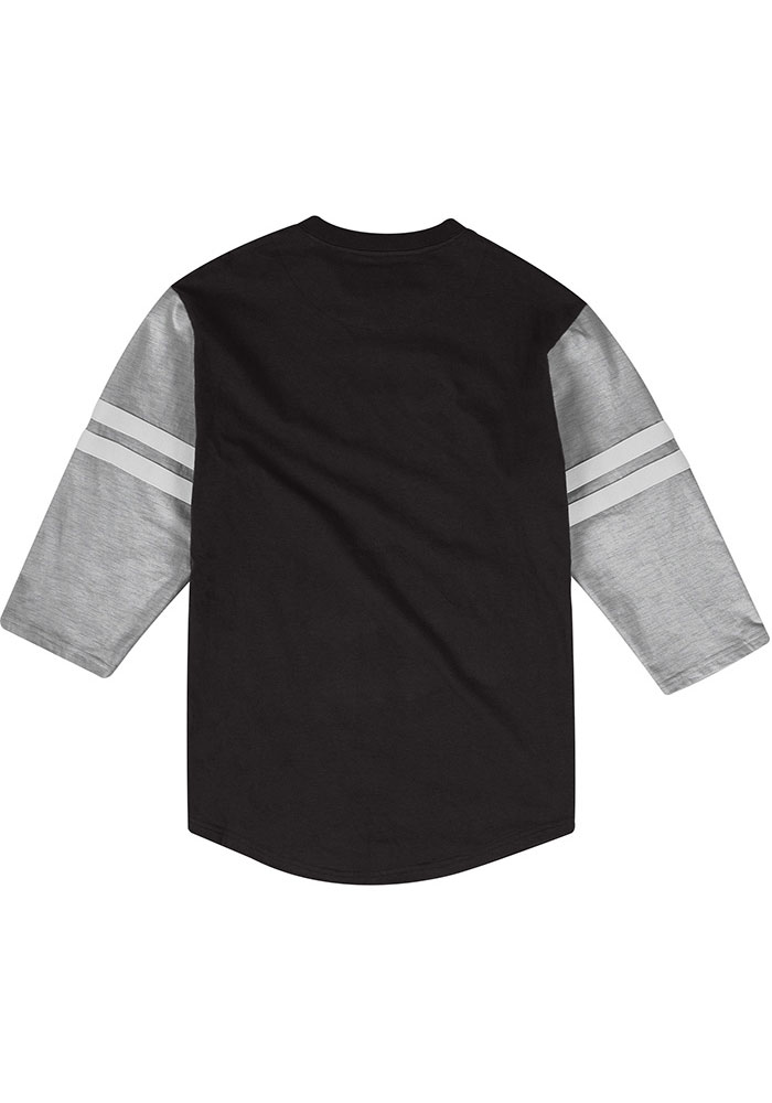 Mitchell and Ness Kansas City Chiefs Black Team Henley Long Sleeve Fashion T Shirt - Image 2