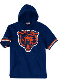Chicago Bears Mitchell and Ness French Terry Fashion Hood - Navy Blue