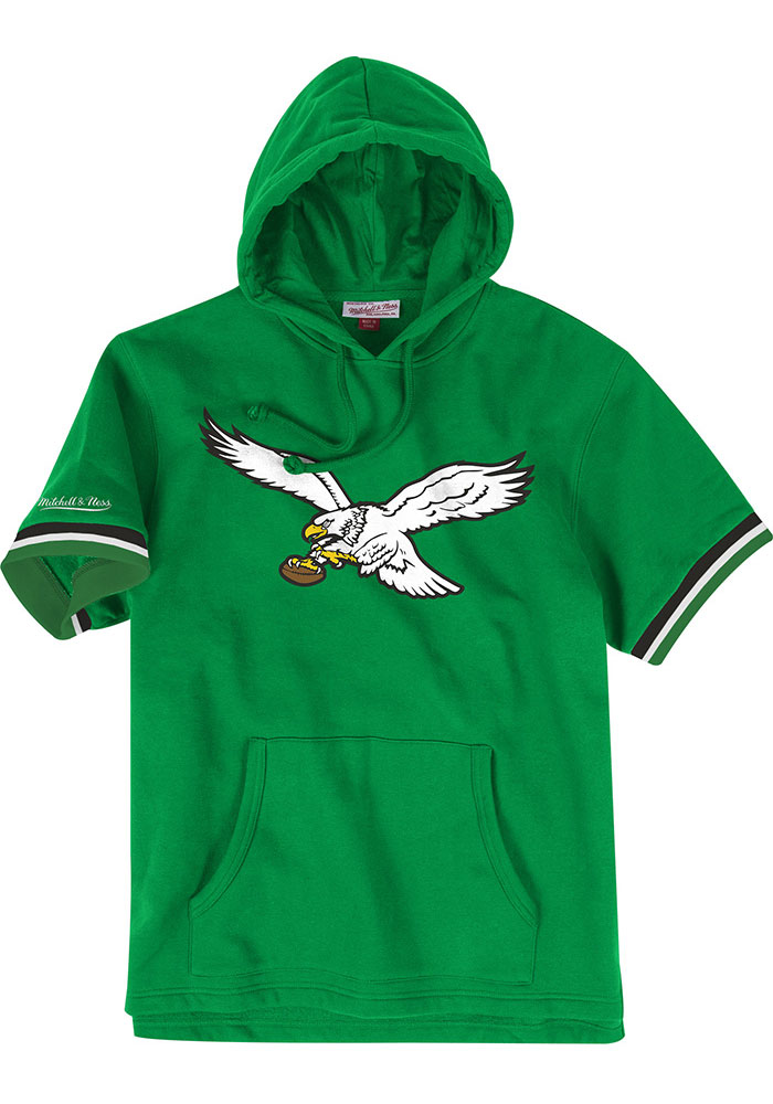 Mitchell and Ness Philadelphia Eagles Mens Kelly Green French Terry Fashion Hood - Image 1