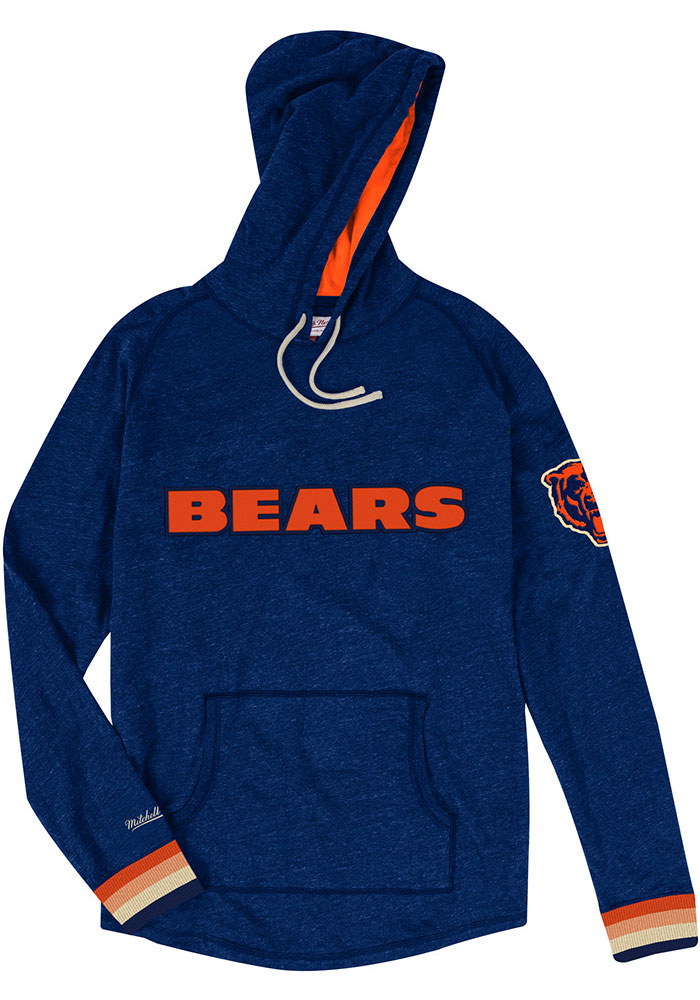 Mitchell and Ness Chicago Bears Mens Navy Blue Lightweight Fashion Hood - Image 1