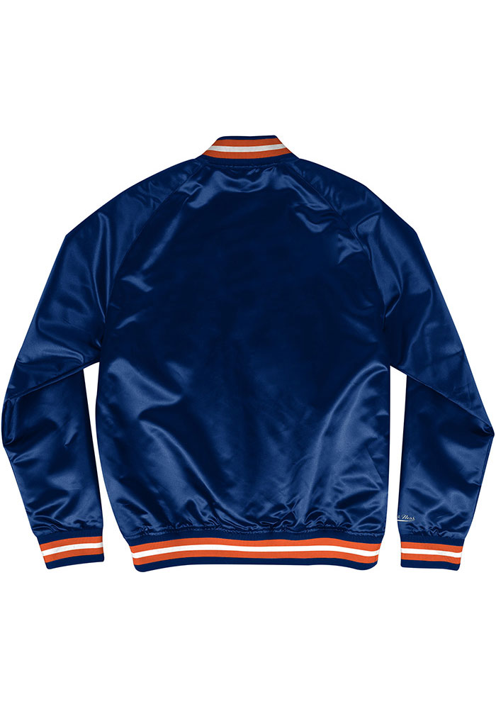 Mitchell and Ness Chicago Bears Mens Navy Blue Satin Light Weight Jacket - Image 2