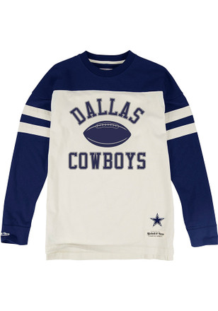 Mitchell and Ness Dallas Cowboys Mens Brown Swing Pass Fashion Tee