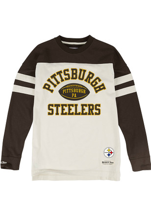 Mitchell and Ness Pittsburgh Steelers Mens Brown Swing Pass Fashion Tee