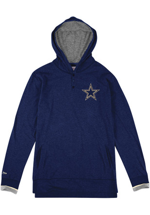 Mitchell and Ness Dallas Cowboys Mens Seal the Win Navy Blue Fashion Hood