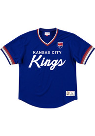 Mitchell and Ness Kansas City Kings Blue Special Script Fashion Tee