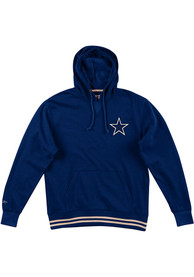 Dallas Cowboys Mitchell and Ness Bat Around Fashion Hood - Navy Blue