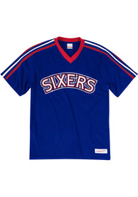 Mitchell and Ness Philadelphia 76ers Blue Overtime Win Fashion Tee