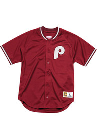 Philadelphia Phillies Mitchell and Ness Seasoned Pro Cooperstown Jersey - Maroon