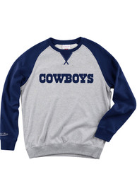 Dallas Cowboys Mitchell and Ness Turf Fleece Fashion Sweatshirt - Grey
