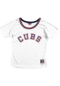 Womens Chicago Cubs Mitchell and Ness Slouchy Mesh Scoop Fashion Baseball - White