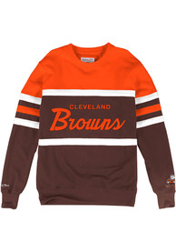 Cleveland Browns Mitchell and Ness Head Coach Fashion Sweatshirt - Brown