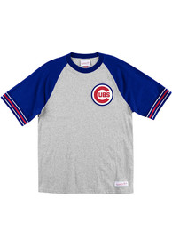 Mitchell and Ness Chicago Cubs Grey Team Captain Fashion Tee
