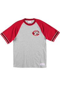Mitchell and Ness Cincinnati Reds Grey Team Captain Fashion Tee