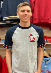 Mitchell and Ness St Louis Cardinals Grey Team Captain Fashion Tee