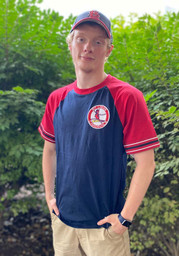 St Louis Cardinals Mitchell and Ness Team Captain Fashion T Shirt - Navy Blue