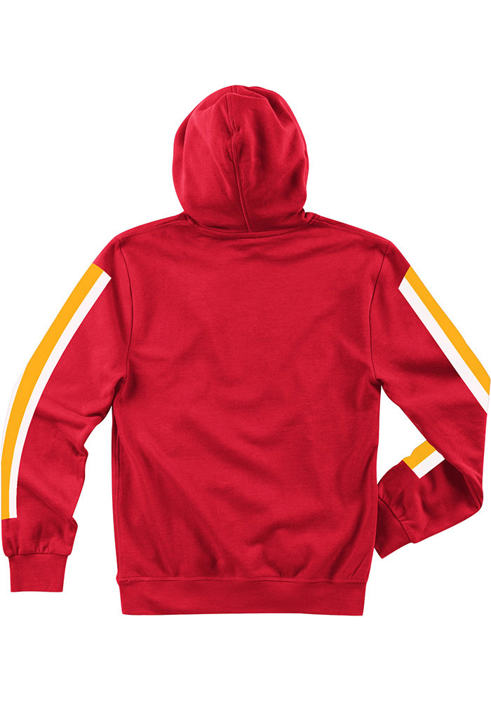 Mitchell and Ness Kansas City Chiefs Mens Red These Stripes Long Sleeve Hoodie - Image 2