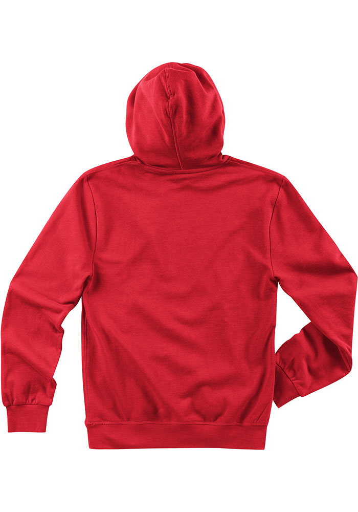 Mitchell and Ness Kansas City Chiefs Mens Red Lock Long Sleeve Hoodie - Image 2
