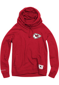 Mitchell and Ness Kansas City Chiefs Womens Red Funnel Neck Hoodie
