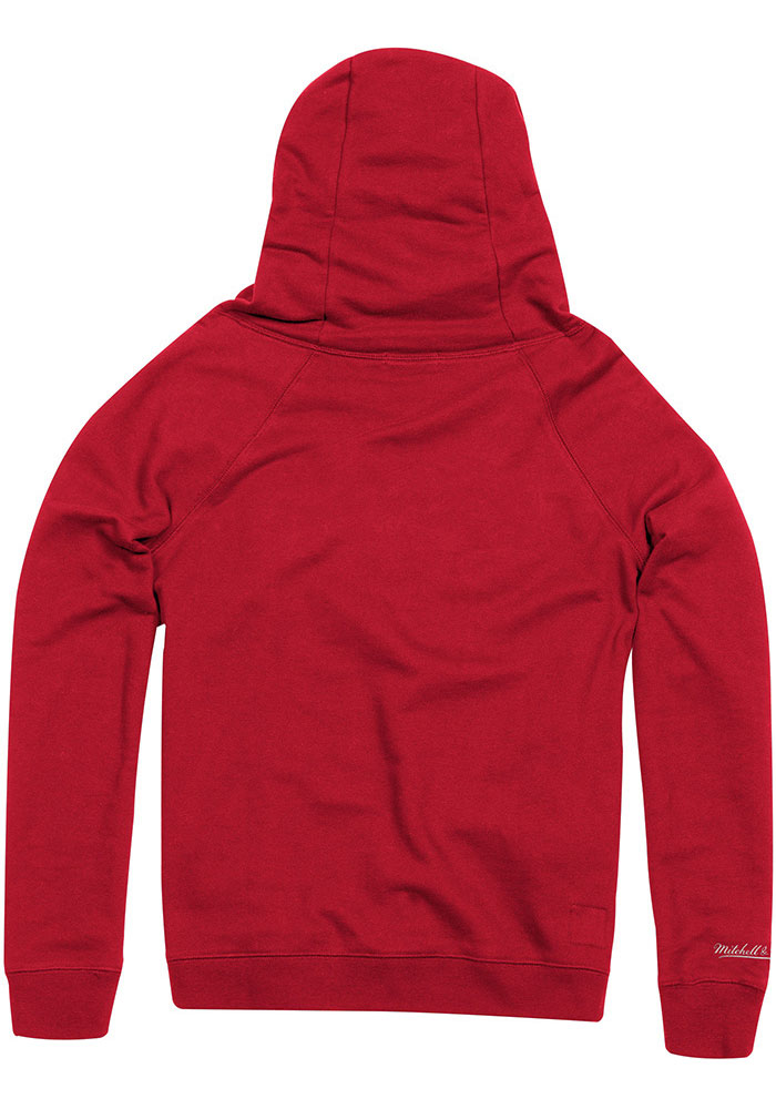 Mitchell and Ness Kansas City Chiefs Womens Red Funnel Neck Hooded Sweatshirt - Image 2