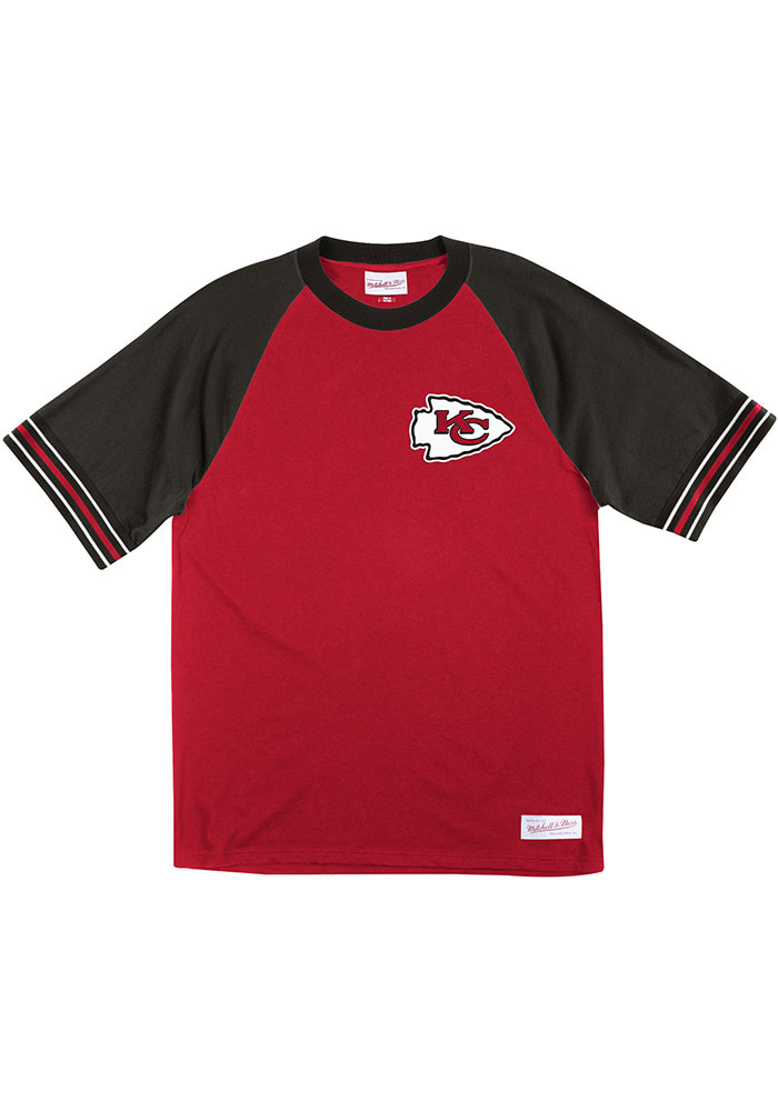 Mitchell and Ness Kansas City Chiefs Red Team Captain Short Sleeve Fashion T Shirt - Image 1