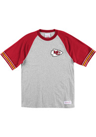 Kansas City Chiefs Mitchell and Ness Team Captain Fashion T Shirt - Grey